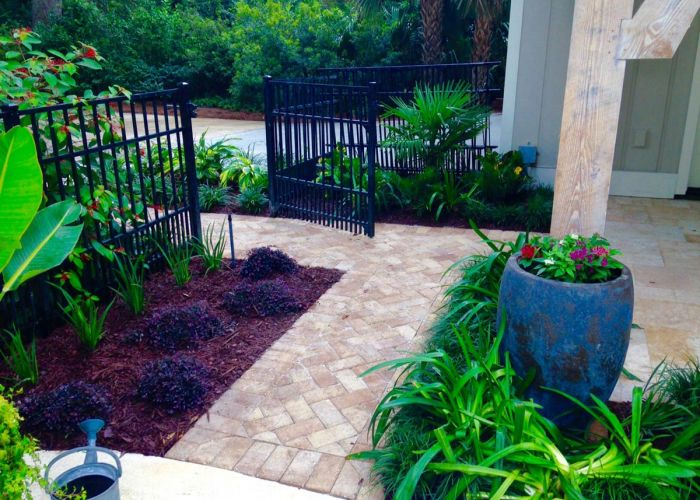 residential garden pavers
